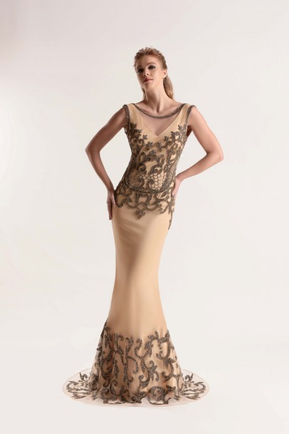 Back Decollete Long Dress
